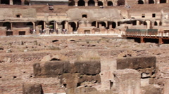 Colosseum indoor panning shot (alternate) Stock Footage