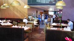 Hotel Restaurant Stock Footage