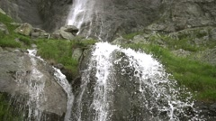 mountain waterfall with clear water - stock footage