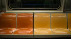 Seats on Subway Train in New York City, USA Stock Photos