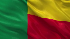 Flag of Benin Stock Footage