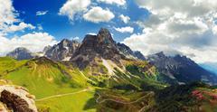 Italian dolomiti - nice panoramic view Stock Photos