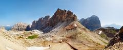 nice view of italian alps - dolomiti mountains - stock photo