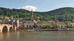 Pan of Heidelberg in Germany Stock Footage