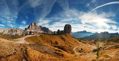 Italian dolomiti - nice pamoramic view Stock Photos