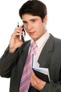 Young businessman working Stock Photos