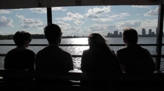 4 people in silhouette Stock Footage