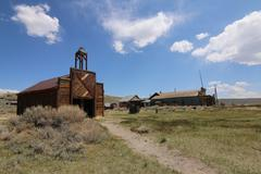 Bodie California Ghost Town Gold Rush Firehouse - stock photo