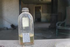 Bodie California Ghost Town Gold Rush medicine bottle Stock Photos