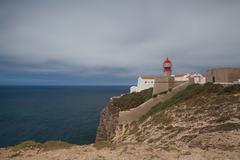 Lighthouse of cabo de sao vicente, sagres,algarve,portugal (built in october Stock Photos