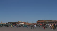 People walking on the entrace to Djemaa el Fna (point of view) Stock Footage