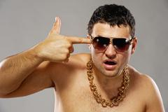 Handsome young rapper Stock Photos