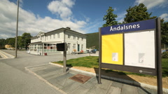 Train Station at Andalsnes Norway Stock Footage