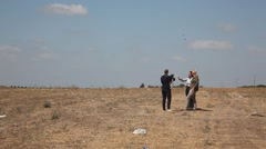 Journalists interview a female representative of IDF Spokesperson Stock Footage