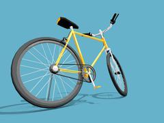 Yellow bike - stock illustration