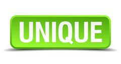 unique green 3d realistic square isolated button - stock illustration