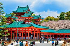 the shrine is ranked as a beppyou jinja - stock photo