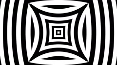 VJ Loop - Black and white pinched squares bulging squares with hypnotic lines Stock Footage