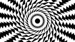 VJ Loop - Black and white spiral of twisting rotating triangles Stock Footage