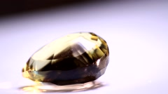 Cut Gemstone Closeup Stock Footage