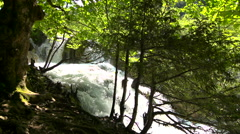 Waterfall - slow motion dolly Stock Footage