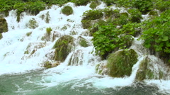 Waterfall cascade - slow motion emphasises power Stock Footage