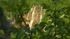 Large Waterfall, Plitivice Lakes National Park, Croatia Stock Footage