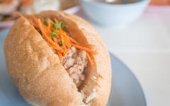 Bread pork, vietnamese style food. Stock Photos