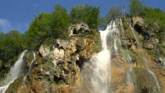 Large Waterfall - slow motion Stock Footage