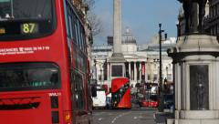 Nelson's Column / Trafalgar Square - stock footage