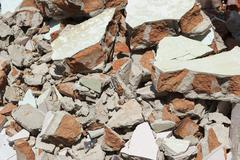 Discarded building rubble - stock photo