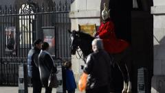 Household Cavalry, London - stock footage