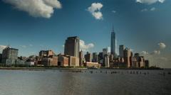 New York Lower Manhattan Timelapse - stock footage