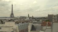 Paris skyline with Eiffel Tower Stock Footage
