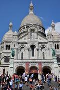 The Sacre Coeur in Paris - stock photo