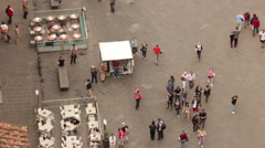 Crowded street overhead - stock footage