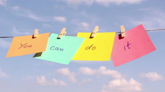 Positive thinking concept. Stock Footage