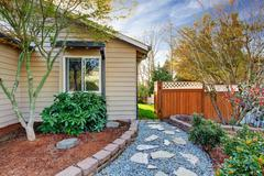 House exterior with curb appeal. Stock Photos