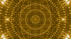 Abstract loop motion background, kaleidoscope gold light Stock Footage