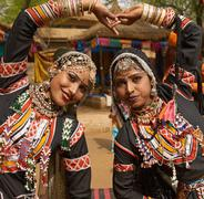 Tribal Dancers of India - stock photo