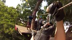 Tarzan in the jungle Taylanda Stock Footage
