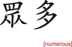 Chinese Sign for numerous Stock Illustration