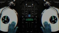 Dj Hands Mix Stock Footage