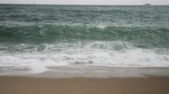 OCEAN SHORE BARCELONA (4K FILE) Stock Footage