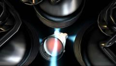 NASA Apollo Saturn 5 Rocket Staging Inside Stock Footage