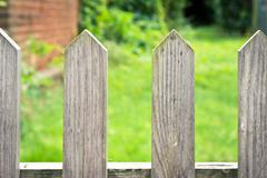 picket fence - stock photo