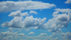 Fluffy Cumulus Clouds Undulate, Change Quickly, Time Lapse Stock Footage