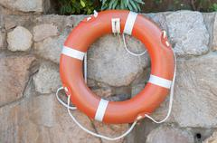 round buoy lifesaver - stock photo