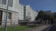 Groote Schuur Hospital time lapse,establisher,Capetown Stock Footage