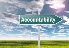 signpost accountability - stock illustration